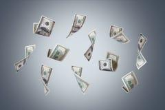 Πετώντας τραπεζογραμμάτια δολαρίων Στοκ Φωτογραφίες
