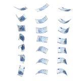 Πετώντας τραπεζογραμμάτια της ευρο- συλλογής είκοσι Στοκ φωτογραφίες με δικαίωμα ελεύθερης χρήσης
