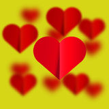 Πετώντας υπόβαθρο καρδιών διανυσματική απεικόνιση