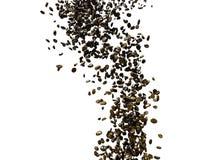 Πετώντας φασόλια καφέ με dof και την ελάχιστη θαμπάδα κινήσεων Στοκ Φωτογραφίες