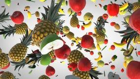 Πετώντας φρέσκο υπόβαθρο τροφίμων απόθεμα βίντεο