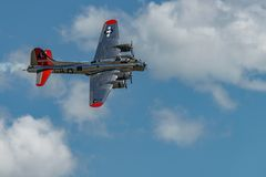 Πετώντας φρούριο ` Αμερικανός Boening β-17G κυρία ` Στοκ εικόνες με δικαίωμα ελεύθερης χρήσης