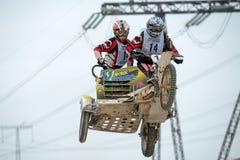 Πετώντας φυλές μοτοσικλετών Στοκ φωτογραφία με δικαίωμα ελεύθερης χρήσης
