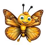 πετώντας χαρακτήρας κινουμένων σχεδίων πεταλούδων ελεύθερη απεικόνιση δικαιώματος