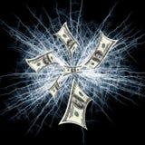 πετώντας χρήματα ανασκόπησ&e διανυσματική απεικόνιση