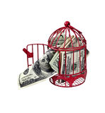 πετώντας χρήματα κοτετσιώ&n Στοκ εικόνα με δικαίωμα ελεύθερης χρήσης