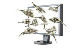 πετώντας χρήματα Στοκ Εικόνες