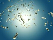 Πετώντας χρήματα απεικόνιση αποθεμάτων