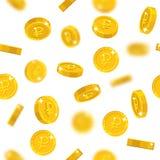 Πετώντας χρυσό άνευ ραφής σχέδιο ρουβλιών απεικόνιση αποθεμάτων
