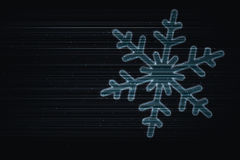 πετώντας snowflake Στοκ εικόνα με δικαίωμα ελεύθερης χρήσης