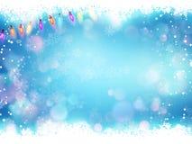 Πετώντας snowflakes σε ένα μπλε υπόβαθρο 10 eps Στοκ φωτογραφία με δικαίωμα ελεύθερης χρήσης