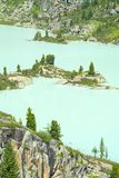 Πεύκα στην ακτή μιας παγετώδους λίμνης βουνών Στοκ φωτογραφία με δικαίωμα ελεύθερης χρήσης