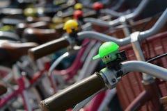 πεδίο βάθους ποδηλάτων κουδουνιών ρηχό Στοκ Εικόνα