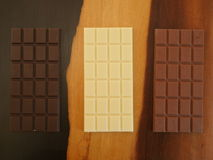 πεδίο βάθους σοκολάτας ράβδων ρηχό Στοκ Εικόνες