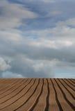 πεδίο που οργώνεται Στοκ φωτογραφίες με δικαίωμα ελεύθερης χρήσης