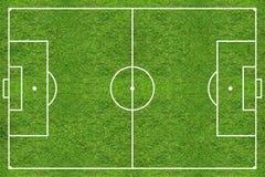 Πεδίο χλόης ποδοσφαίρου υψηλής διάλυσης Στοκ Εικόνα