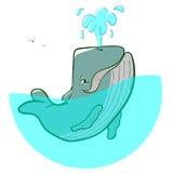 Πηγές γαλάζιων φαλαινών λογότυπων Στοκ Εικόνες