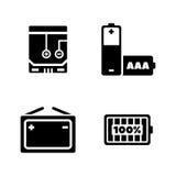 Πηγές δύναμης Απλά σχετικά διανυσματικά εικονίδια ελεύθερη απεικόνιση δικαιώματος