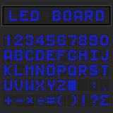 Πηγή, αριθμός και μαθηματικά των μπλε οδηγήσεων ψηφιακή αγγλική κεφαλαία Στοκ εικόνα με δικαίωμα ελεύθερης χρήσης