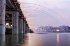 Πηγή γεφυρών ουράνιων τόξων Banpo Στοκ εικόνα με δικαίωμα ελεύθερης χρήσης