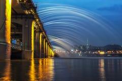 Πηγή γεφυρών ουράνιων τόξων Banpo Στοκ φωτογραφία με δικαίωμα ελεύθερης χρήσης