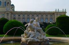 Πηγή κήπων της Βιέννης Στοκ Εικόνες