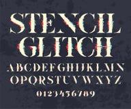 Πηγή και αριθμοί Glith Στοκ φωτογραφίες με δικαίωμα ελεύθερης χρήσης