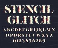 Πηγή και αριθμοί Glith Στοκ Φωτογραφίες