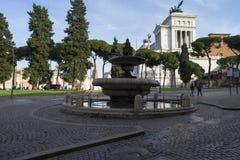 Πηγή και πλατεία Venezia το υπόβαθρο Στοκ Εικόνα