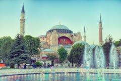 Πηγή και Hagia Sophia Στοκ Εικόνα