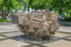 Πηγή κρυστάλλου του Μόναχου Koninginstrasse Στοκ φωτογραφία με δικαίωμα ελεύθερης χρήσης