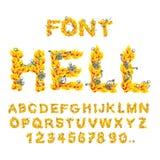Πηγή κόλασης κόλαση ABC Επιστολές πυρκαγιάς Αμαρτωλοί στο hellfire helli διανυσματική απεικόνιση