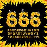 πηγή 666 Κόλαση ABC Επιστολές πυρκαγιάς Αμαρτωλοί σε φλογερό Gehenna Infe απεικόνιση αποθεμάτων