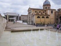 Πηγή μουσείων Pacis Ara, Ρώμη Στοκ Φωτογραφίες