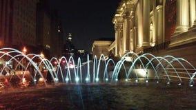 Πηγή νερού μπροστά από το Metropolitan Museum of Art στο Μανχάταν, Νέα Υόρκη, Νέα Υόρκη Στοκ εικόνα με δικαίωμα ελεύθερης χρήσης