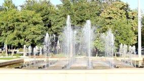 Πηγή νερού Σύγχρονη πηγή σε ένα πάρκο Στοκ φωτογραφίες με δικαίωμα ελεύθερης χρήσης