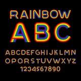 Πηγή ουράνιων τόξων Επιστολές LGBT ABC για το σύμβολο των ομοφυλόφιλων και λεσβιών απεικόνιση αποθεμάτων