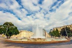 Πηγή παγκόσμιου πολέμου σε Schwarzenbergplatz στη Βιέννη australites Στοκ φωτογραφίες με δικαίωμα ελεύθερης χρήσης