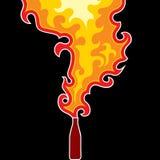 πηγή πυρκαγιάς μπουκαλιώ&n Στοκ Εικόνες