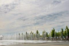 Πηγή πόλεων το καλοκαίρι Στοκ Εικόνες