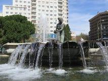 Πηγή σε Plaza Espana, Μαδρίτη Στοκ φωτογραφίες με δικαίωμα ελεύθερης χρήσης