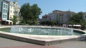 Πηγή στην ανεξαρτησία τετραγωνική Βάρνα, Βουλγαρία φιλμ μικρού μήκους