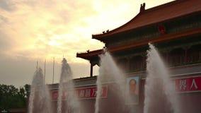 Πηγή στην απαγορευμένη πόλη, Πεκίνο απόθεμα βίντεο