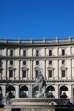 Πηγή στην πλατεία της Δημοκρατίας Ιταλία Ρώμη Στοκ φωτογραφία με δικαίωμα ελεύθερης χρήσης