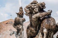 Πηγή στην πλατεία Della Repubblica, Ρώμη Στοκ φωτογραφία με δικαίωμα ελεύθερης χρήσης