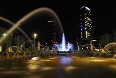 Πηγή στη ζωή πόλεων, Μιλάνο, Ιταλία Στοκ Εικόνα
