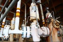 Πηγή στη μακρινή πλατφόρμα και ελεγχόμενος από το πρόγραμμα PLC για να ανοίξει και να κλείσει για το πετρέλαιο παραγωγής και το φ στοκ εικόνες