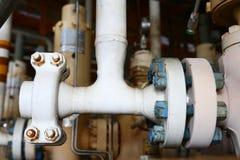 Πηγή στη μακρινή πλατφόρμα και ελεγχόμενος από το πρόγραμμα PLC για να ανοίξει και να κλείσει για το πετρέλαιο παραγωγής και το φ στοκ φωτογραφία με δικαίωμα ελεύθερης χρήσης