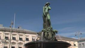 Πηγή στο κέντρο της πόλης Ελσίνκι φιλμ μικρού μήκους