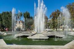 Πηγή στο κέντρο Pleven, Βουλγαρία Στοκ Φωτογραφίες